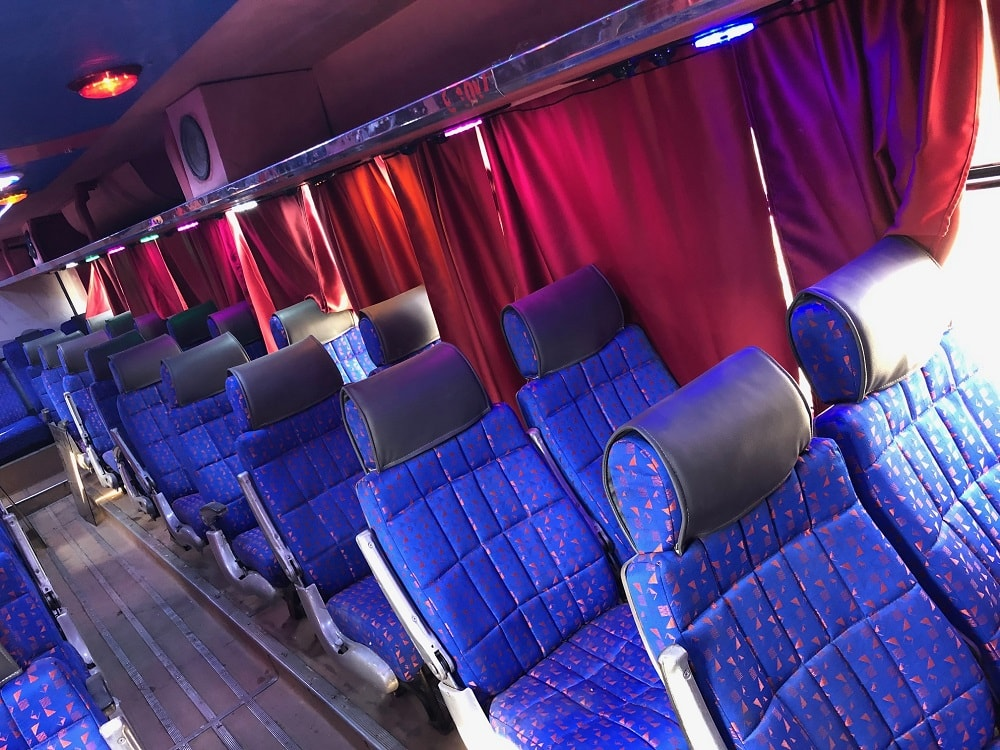 56 SEAT AC 3x2 bus on hire