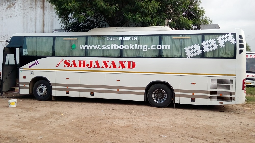 volvo seating bus on rent